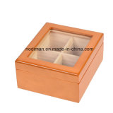 Luxury Acrylic Window Pine Wood Tea/Gift Box