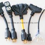 NEMA Power Cords L14-30p to Triple Tap 5-20r Adapter Heavy Duty Stw