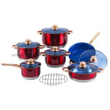 Home Appliance 13PCS Stainless Steel Cookware Pots and Pans Sets with Marble Coating