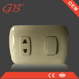South American One Gang Electrical Wall Switch Wall Socket
