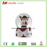 Hand-Painted Resin Water Globe with Deer Figurine for Christmas Gift and Home Decoration