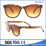 2017 Wholesale Fashion Shiny Double Demi Brown Sunglasses