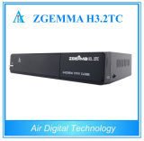 for Italy/UK/Spanish Zgemma H3.2tc Multistream DVB-S2+2X DVB-T2/C Digital TV Satellite Receiver with IPTV, 3D Ready