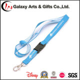 Custom Woven Logo Polyester Lanyards Jacquard with Plastic Buckle