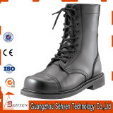 Military Army Use Leather Boots with Iron Toe in Black