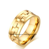 2017 Hot Sell Jewelry 18k Gold Plated Mens 316L Stainless Steel Rotating Gear Wedding Ring