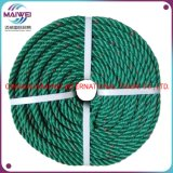 PE Rope, Green with Red Tracer, Recycled Polyethylene Rope, Recycled PE Rope, Fishing Rope, Plastic Rope