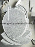 Customized Cheap Headstone China Grey /Pink /Black Granite Cross Tombstone in Romanian Market