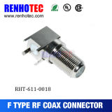 Right Angle 75 Ohm Through Hole F Female Connector
