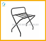 Folding Stainless Steel Luggage Rack with Back Bar
