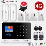 4G GSM WiFi APP Control Home Security Smart House Pet Immune Alarm System Fire Alarm