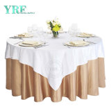 High Quality Wedding Banquet Fancy 120/132inch Round Table Clothes