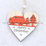 Christmas Wooden Heart Decor for Holiday Wedding Party Decoration Supplies Hook Ornament Craft Gifts