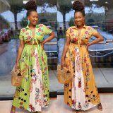 African Print Women Maxi Dress Hot Selling Work Dresses Fashion Ankara Women Infinity Dress