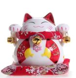 Decorative Japanese Porcelain Ceramic Money Fortune Lucky Cat