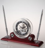 K8008 Customized Decoration Wooden Table Clock for Business Gift