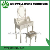 Woman Dressing Table with Drawers and Oval Frame Mirror (W-HY-013)