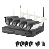 4CH Full HD WiFi P2p IR Bullet Wireless CCTV IP Camera with 1080P Complete CCTV Kit System