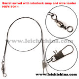 Fishing Barrel Swivel with Interlock Sanp and Wire Leader