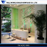 Acrylic Solid Surface Furniture New Design Beauty Salon Reception Desks