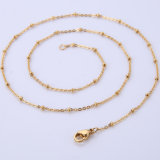 Stainless Steel Chain Cut Rolo Round Link Bead Necklace Jewelry