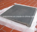 Natural Black Basalt Swimming Pool Coping Tile / Border Tile