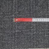 Stock Houndstooth Herringbone Double Faced Woolen Fabric for Overcoats