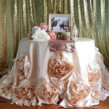 Cheap High Quality 132 Inch Round Jacquard Table Cloth for Wedding Dinner Party