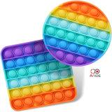Amazon Hot Selling Silicone Fidget Toys Push Pop Bubble Fidget Sensory Toys for Autism Children