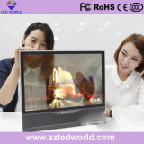 The Popular LED Galss Transparent Display Screen Panel in Shopping Mall