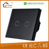 2 Gang 1way 2way Glass Touch Panel Light Switch