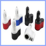 3.1A Smart Port 3 in 1 Car Charger 2 Port USB+Cigarette Lighter for iPhone 6s Plus 6 6s 5s