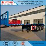 9/10m Heavy Duty 3 Axle Flatbed Semi-Trailer Truck for Cargo Transport with Front Board
