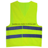 Neon Mesh Industrial  Safety  Vest  with 3 M Reflective Tape