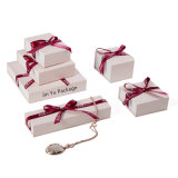 Silk Ribbon Cardboard Paepr Gift Jewelry Packaging Boxes with Magnetic