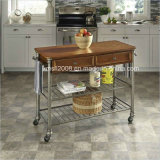 The Orleans Kitchen Cart Antiqued Design Cart with CE (G-KC05)