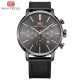 Mini Focus Leather Band Quartz Wrist Watch with Competitive Price