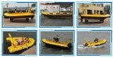 Hailun 5.8m 90HP Fiberglass Bottom Boat for Sale Rib Boat Price Inflatable Rib Boat Rigid Boat