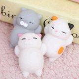 Dtr0017 Soft 3D TPR Cute Mochi Squishy Cat Stress Relief Toys