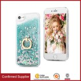 Multifunctional Flowing Quicksand Liquid Glitter Phone Cover with Kickstand