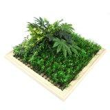 Latest Design DIY Artificial Framed Vertical Wall Garden Art for Indoor Decoration