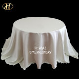 Custom Cheap Round Ivory Labour Satin Cover Tablecloth for Party