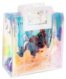 Holographic Transparent Handbags Beach Bag Laser Clear PVC Tote Shopping Bag