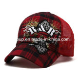 New Fashion Custom Embroidery 6 Panel Mesh Cap