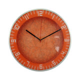 Round Shaped Analog Wall Clock Orange Color