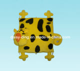 Plush Leopard Cushion with Printing Material