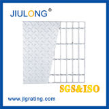 Hot DIP Galvanized Compound Bar Grating Steel Floor Grating with Checkered Plate for Catwalk