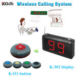 Wireless Single-Key Table Service Call System