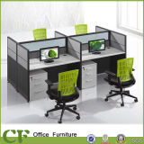 Hot Selling Melamine Laminted Chipboard 4 Person Workstation