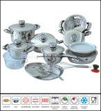 Kitchenware 22piece Stainless Steel Cookware Set